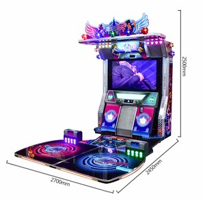 SQV indoor amusement arcade coin operated video electronic simulator music dancing machine game