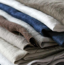 enzyme washed french linen woven fabric