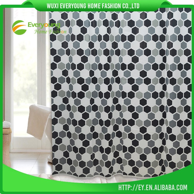 10 Years Manufacturer High Quality Waterproof Bath Curtain 2012 New Designs