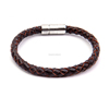Fashion Jewelry Stainless Steel Men Leather