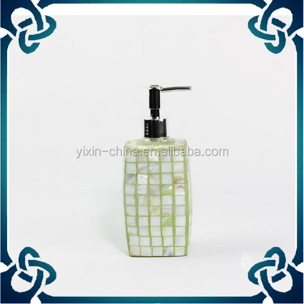 Mosaic Bathroom Glass Accessory Set For Decoration Hand Sanitizer Soap Dispen