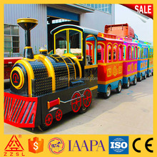 Top quality cheap electric train rides used tourist trackless train for sale