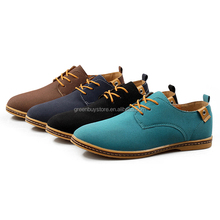2016 New Suede Genuine Leather Men Flats Shoes Men's Oxfords Casual Loafers Sneakers Size 38-47