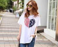 Western Style Fashion Girls Custom Design Printed T-Shirt Wholesale Price