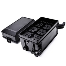 12-slot relay box 6 relays + 6 ATC/ATO fuses holder block for automotive marine engine bay