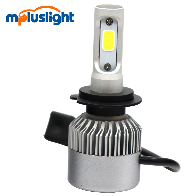 h4 adapter to h7 h16 9005 9006 cree cob led headlight 4000lm Xenon hid kit 4300K 6000K