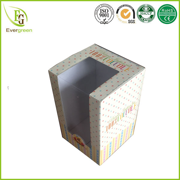 hot-sale tuck top and bottom cardboard box with clear pvc window packaging for toys