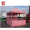 Outdoor 10ftx10ft white and red stripe tent,outdoor event tents