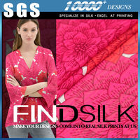 Hellosilk latest generation flower printed chiffon fabric wholesale