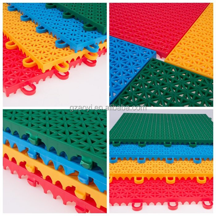 Plastic floor covering outdoor sports tile flooring turf protective covering Sports Flooring for Basketball/Tennis Court Port