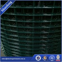 GARDEN GREEN PVC COATED BORDER STEEL WIRE MESH FENCE 10MX 0.9M FENCING STRONG