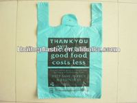 PE plastic printed t shirt bag on roll for shopping with high quality