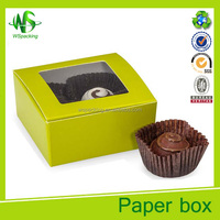 Cheap Brown truffle boxes food packing box cup cake box