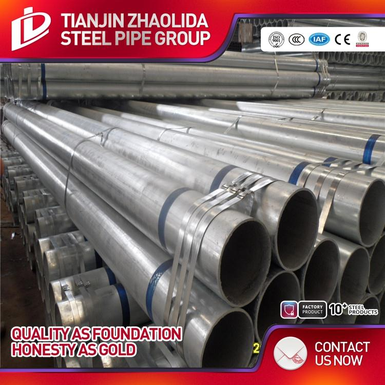 MS / CS welded cold rolled 22mm od 16mm round pre painted galv. steel tubing for building material
