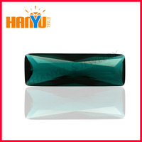 Large size long rectangle colored glass stone