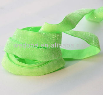 5/8 inch Frosted Glitter Elastic Band Elastic Ribbon