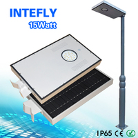led light source integrated solar street garden light 15w 20w 25w 30w 40w 60w 70w