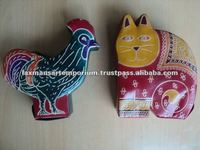 leather piggy banks shanti niketan