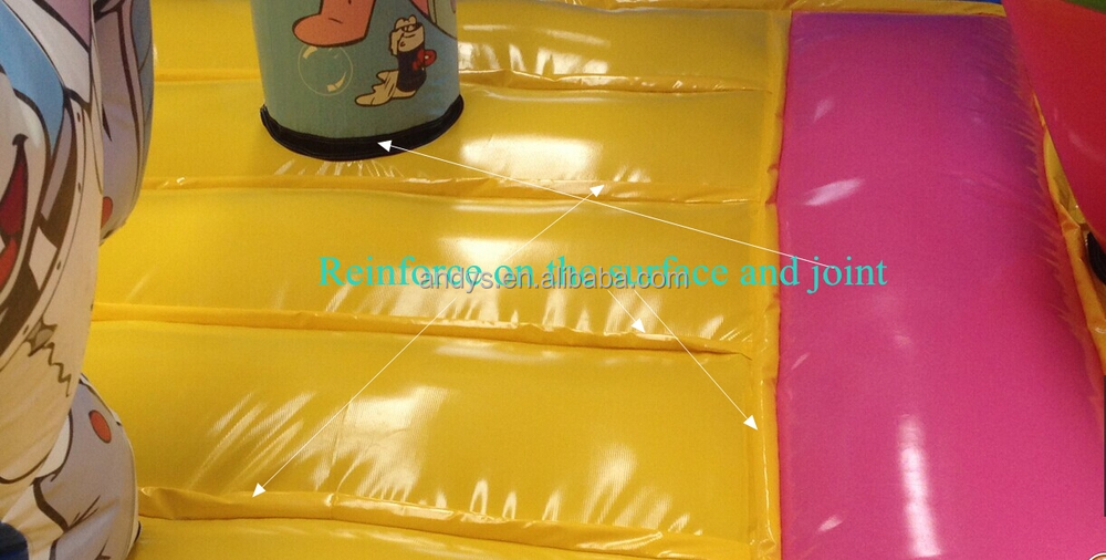 Inflatable bouncer with blower and steel stakes