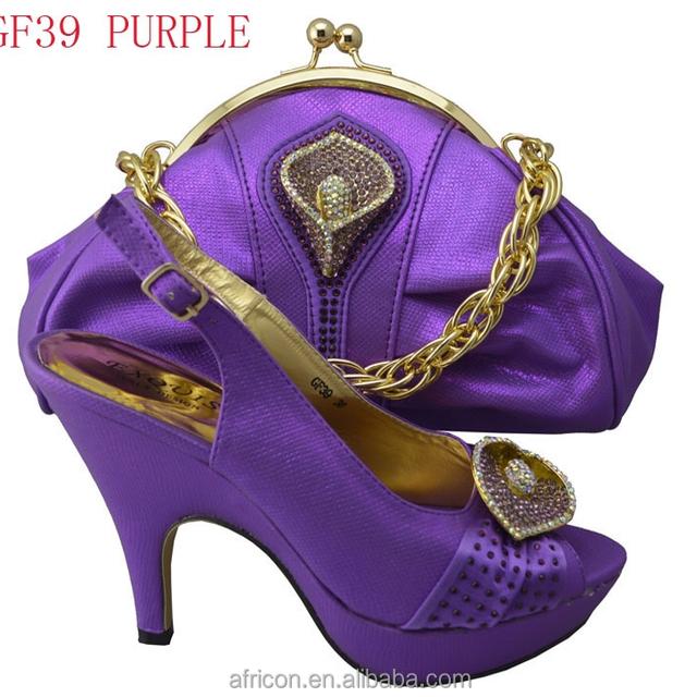 GF39 purple 201508 wedge fashionable italian matching shoes and bags/matching shoes and bags/6 colors