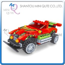 Mini Qute DIY electronic RC remote control racing cars vehicle action figure plastic building block educational toy NO.20102