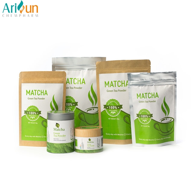 Factory Supply Free Sample Instant Matcha Green Tea Extract Powder