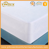 China supplier cotton polyester bed sheet 100% cotton waterproof mattress protector mattress cover