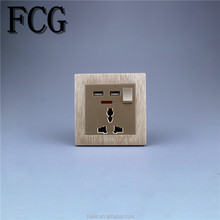 manufacture hot sell fancy golden big button wall socket