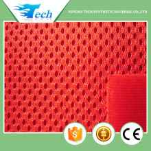 2014 Professional knitted African car seat cover fabric for sale, red color mesh fabric with high quality
