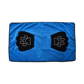 Tianyuan pet grooming bath towel,cotton microfiber pet towel with pockets