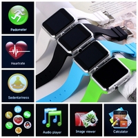 "Heart Rate Monitoring & SIM Card Watch Phone1.54"" SYNC Bluetooth Smart Watch Cellphone Support IOS and Android"