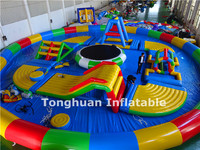 2016 giant inflatable water park toys, inflatable water obstacle games