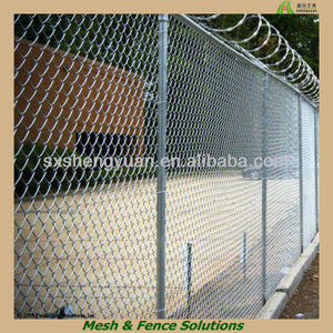 High Quality Security Metal Galvanized Plastic Garden Fence