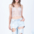 China wholesale clothing latest fashion design lace crop top women