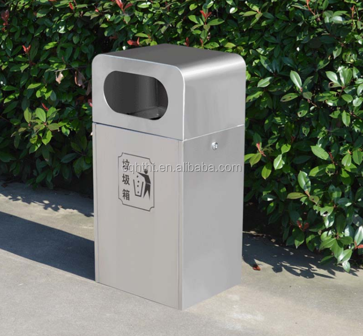 Big capacity outdoor powder coated dust bin