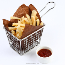 Wire French Fry Basket,Mini Food Serving Basket,Stainless steel Oil Filter F0054