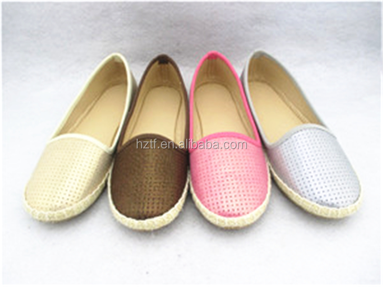 Hangzhou Hot Office Lady Small Sharp Angle Women Wedge Slip On Pump Shoe