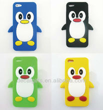 2014 silicon penguin phone cover case for Iphone