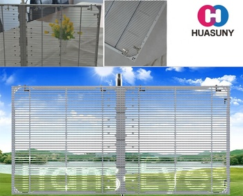Huasun Technology Trans-eyes series the glass video wall with high transparency can be customize