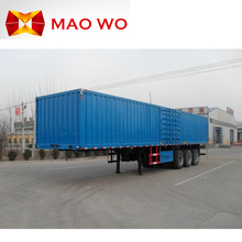 Tri-axle side wall semi trailer volume sand tipper truck for sale