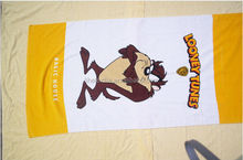 custom printed cotton beach towel