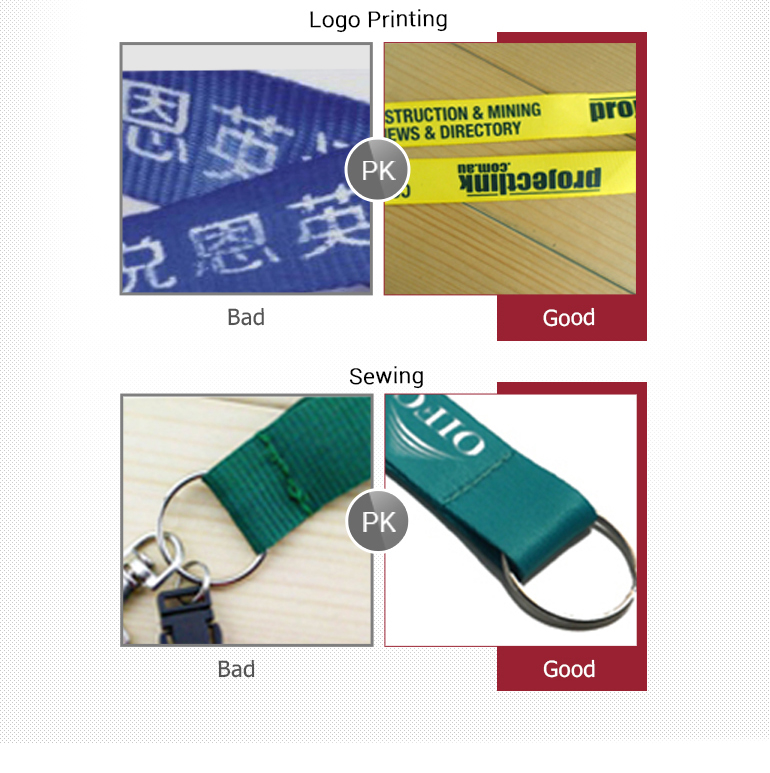 Wholesale promotional heat transfer printing compamy lanyard with metal hook