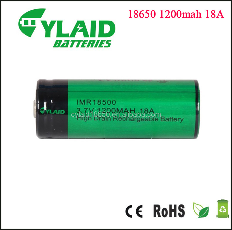 Newest good price ni-cd sc 1200mah rechargeable battery 3.7v 18500 1200mAh 18A battery for E-Cigarette