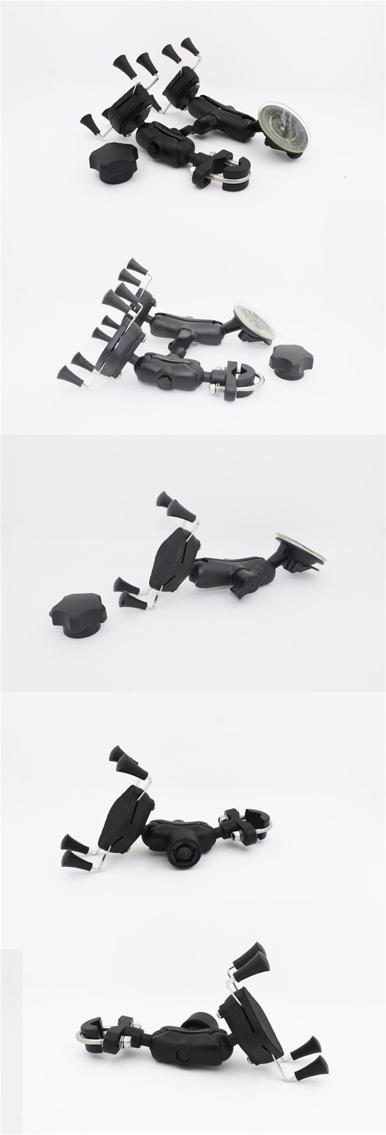Universal 360 Degree Grip Car Holder Suitable Mobile Phone Motorcycle Bike Bicycle Handlebar Mount Bracket