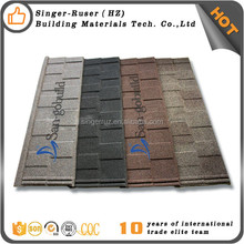 Hot color stone chips coated alu zinc roof sheeting photos high quality steel roofing sheeting galvanized corrugated roof tile