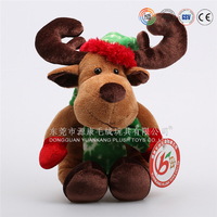 Xmas electric singing dancing and moving plush reindeer toy