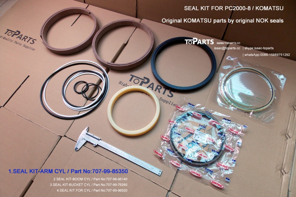 707-99-85350 Hydraulic Arm Cyl Seal Kit for KOMATSU PC2000-8 Arm hydraulic cylinder seal kit spare kit for PC2000