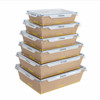 Disposable imported kraft lunch food paper box without glue