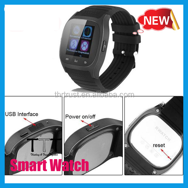 factory supply Logo Print Blue White Black Smart Watch for Iphone Samsung And other smart phone