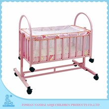 China Customized Pattern 100% Cotton Plain Style Infant Cot Prices